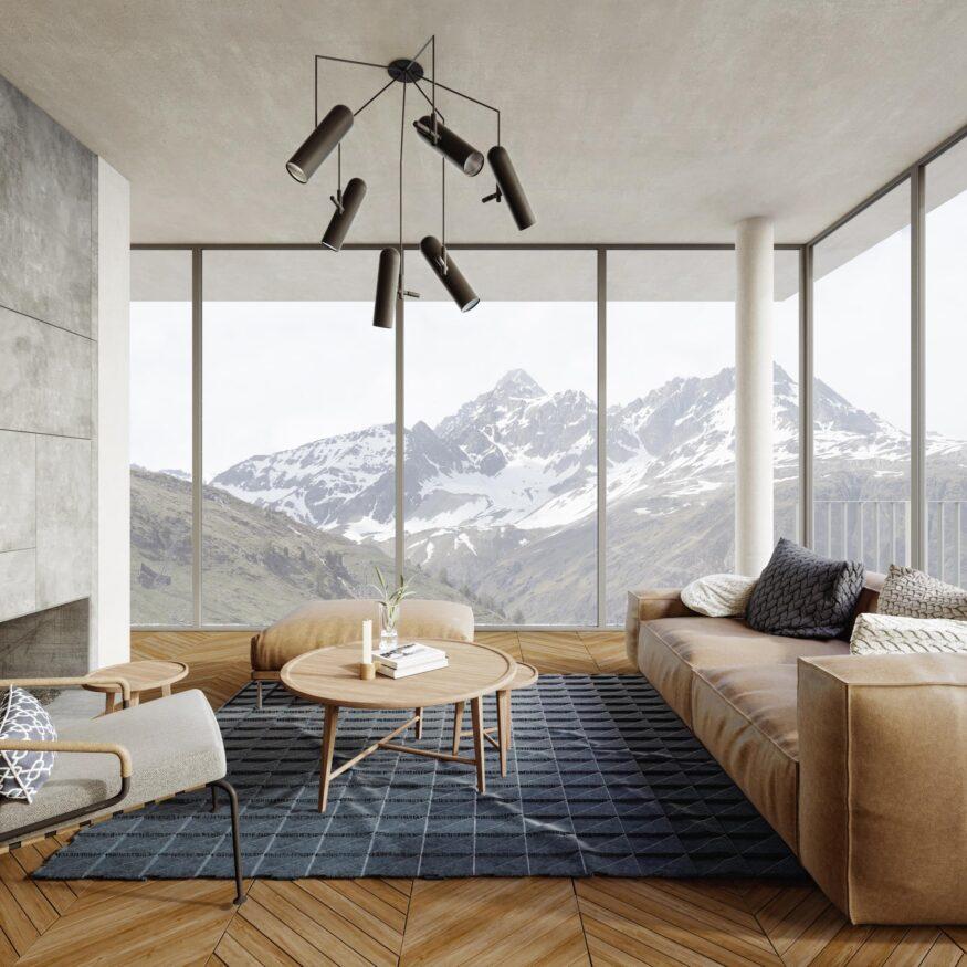 Alphütte mit Panoramablick